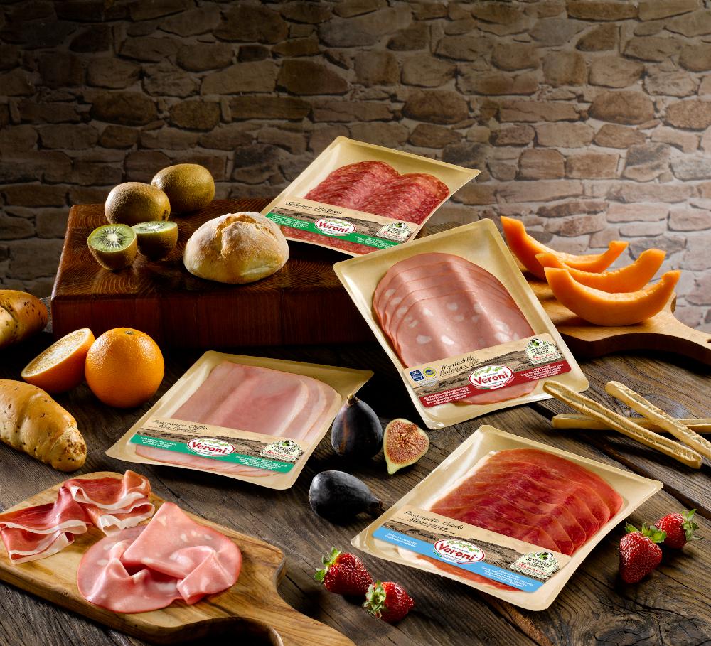Scegliere prodotti ecologici da portare sulla tavola: gli affettati Veroni Salumi hanno una nuova vaschetta green